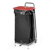 Stojan na odpadkové pytle 125 l, červené víko