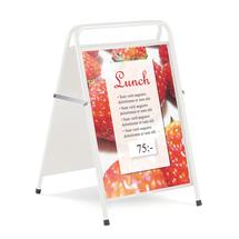 Reklamní stojan, 500x700 mm, bílá