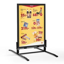 Reklamní stojan, 700x1000 mm, černá