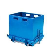 Kontejner s výklopným dnem, 700 l, modrý