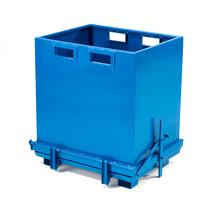 Kontejner s výklopným dnem, 1000 l, modrý