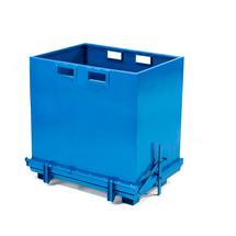 Kontejner s výklopným dnem, 1800 l, modrý
