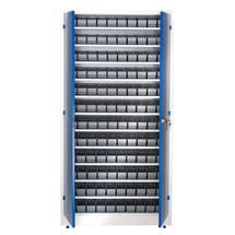 Dílenská skříň se 120 boxy, 1900x1000x400 mm