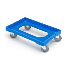 Vozík na přepravky, plastový, 200 kg, 605x400 mm