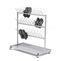Věšák na boty, lakovaný šedý, 1060x540x1200mm
