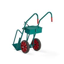 Vozík na tlakové láhve, 550x1200x300 mm, plná gumová kola