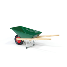 Stavební kolečko MARCUS, zelené, kapacita 90 l, korba 270x66