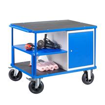 Dílenský vozík Mobile, 1 skříňka, 1000x700 mm