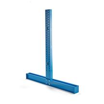 Stojan konzolového regálu Expand, oboustranný, výška 2432 mm, pro ramena 1000 mm