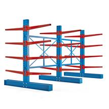 Konzolový regál Expand, oboustranný, 3 stojany, 24x 1000mm rameno, 6600 kg