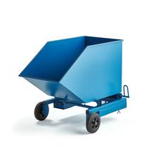Pojízdný výklopný kontejner, 300 l, modrý