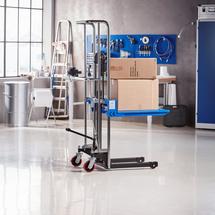 Ruční vysokozdvižný vozík, s plošinou, 400 kg, výška 85-1500 mm