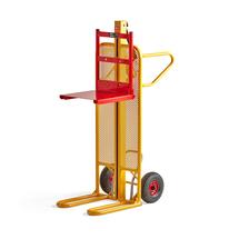 Zdvihací vozík s plošinou, 100 kg