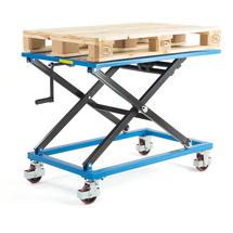Manuální zvedací stůl, mobilní, 350 kg, 1200x800x450 mm