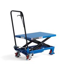 Zvedací stůl, 150 kg, modrý