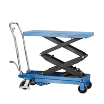Zvedací stůl, 350 kg, modrý