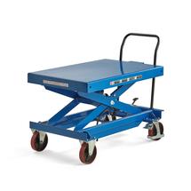 Zvedací stůl, hydraulický zdvih, s váhou, 1000 kg, 1200x800 mm