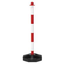 Zahrazovací sloupek, červeno-bílý, plastový, 900 mm, bal. 10 ks