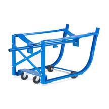 Vozík na sudy, 300 kg, modrý