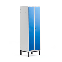 Šatní skříňka Classic, s nohami, 2 sekce, 1940x600x550mm, modré dveře