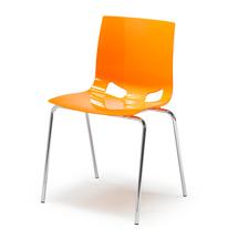 Plastová židle Phoenix, oranžová