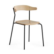 Židle Viggo, antracitová, bříza