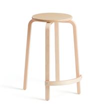 Dřevěná stolička Nemo, V 630 mm, bříza, vnější opěrka