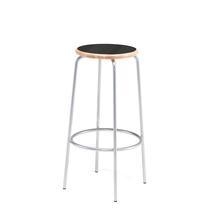 Barová stolička Tim, výška 800 mm, černá