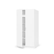 Kancelářská skříň Theo, 2100x1000x600 mm, bílá