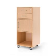 Řečnický pultík, 2 zásuvky, skříňka, 460x450x1045 mm, buk