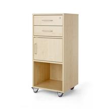 Řečnický pultík, 2 zásuvky, skříňka, 460x450x1045 mm, bříza
