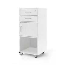 Řečnický pultík, 2 zásuvky, skříňka, 460x450x1045 mm, bílá