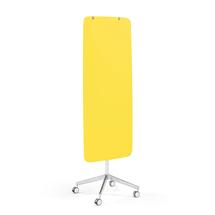 Mobilní skleněná tabule Stella, magnetická, kulaté rohy, žlutá