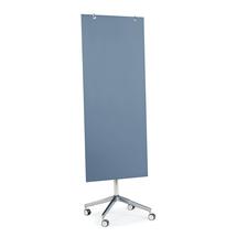 Skleněná magnetická tabule, pojízdná, pastelově modrá