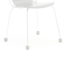 Návlek na nohu židle, 16-22 mm, světle šedý