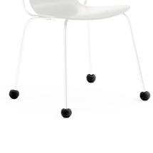 Návlek na nohu židle, 16-22 mm, černý