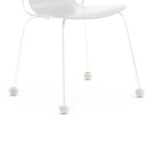 Návlek na nohu židle, 20-27 mm, světle šedý