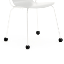 Návlek na nohu židle, 20-27 mm, černý