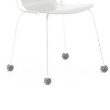 Návlek na nohu židle, 20-27 mm, tmavě šedý
