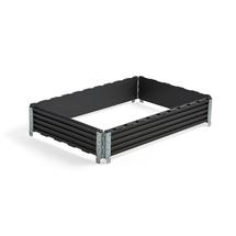 Paletový nástavec, 1200x800x200 mm, plastový, černý