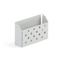 Přihrádka do šatních skříněk, 180 mm, šedá