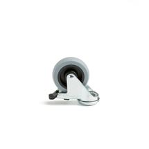 Otočné kolo s brzdou, 75x25 mm, 55 kg, gumový běhoun