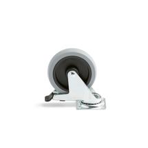 Otočné kolo s brzdou, 100x25 mm, 70 kg, plné gumové